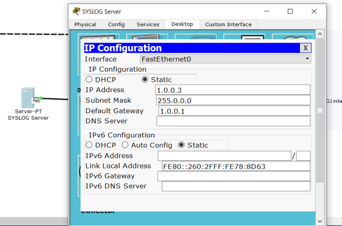 Configuration on SYSLOG Server