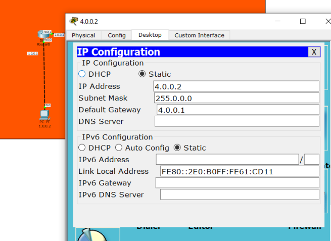 IP Config on PC