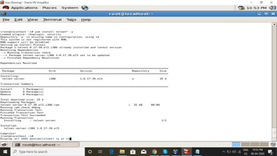 Install telnet pakages