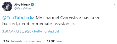 Carry announcement on twitter. Carryislive Hacked